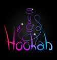 Hookah inscription color abstract
