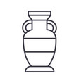 interior vase line icon sign vector image