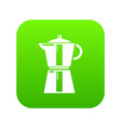 kettle element icon green vector image vector image