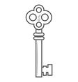 Key isolated on white background vector image