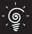 light bulb icon on black background vector image