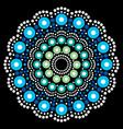 mandala bohemian dot painting aboriginal vector image vector image
