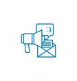marketing compaign linear icon concept marketing vector image vector image