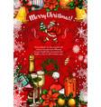 merry christmas santa sketch greeting card vector image