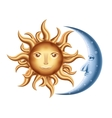 Moon and Sun vector image vector image