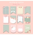 note papers and stickers set vector image