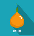 onion icon flat style vector image vector image