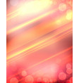 orange blurred background with rays of sun and vector image vector image