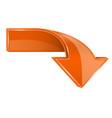 orange down 3d arrow