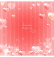 Ornate heart background vector image