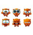 owl emoticons vector image