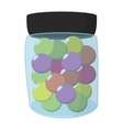 Paintball balls in a jar vector image vector image