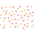 pink yellow colorful abstract triangles retro vector image vector image