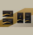 premium dark golden business card designs set vector image vector image