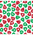 red and green security shields pattern eps10 vector image