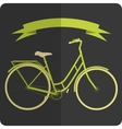 Retro styled image green and beige bicycle vector image vector image