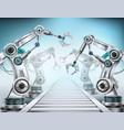 robotic arm realistic composition vector image