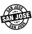san jose black round grunge stamp vector image vector image