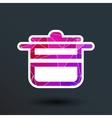 saucepan food menu kitchen soup pot design vector image vector image