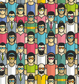 Seamless pattern group people vector image