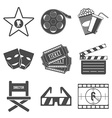 Set of Movie Icons Flat design vector image vector image