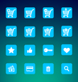 Set of various e-shop icons - shopping carts vector image vector image