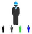 standing engineer flat icon vector image vector image