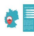 stuttgart map infographic vector image vector image