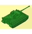 Tank isometric flat 3d vector image vector image