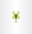 tree sign icon element vector image vector image