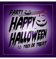 Vintage Happy Halloween Typographical purple vector image vector image