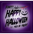 vintage happy halloween typographical purple vector image vector image