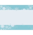 Vintage winter background with snowflakes vector image
