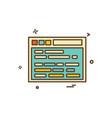 website icon design vector image