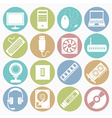 white icons computer vector image vector image
