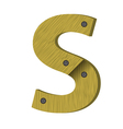 wood letter S vector image vector image