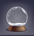 xmas empty snow globe winter christmas vector image vector image