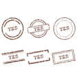 Yes stamps vector image vector image
