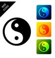 yin yang symbol harmony and balance icon vector image vector image