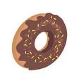 donut logo sweet doughnut design flat food vector image
