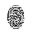 Fingerprint black isolated fingerprint on vector image