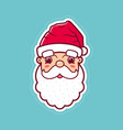 santa claus cute face icon vector image