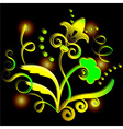 Abstract yellow flower vector image vector image