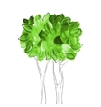 Acrylic Tree vector image vector image