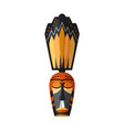 african hawaiian or mayan mystical mask on white vector image vector image