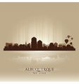 Albuquerque New Mexico skyline city silhouette vector image vector image