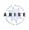 anicse logo design premium quality culinary spicy vector image vector image