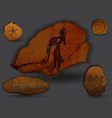 aquariuszodiac in the form of cave painting vector image vector image