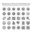 bacteria icon vector image vector image