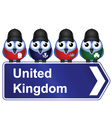BIRD SIGN UNITED KINGDOM vector image vector image